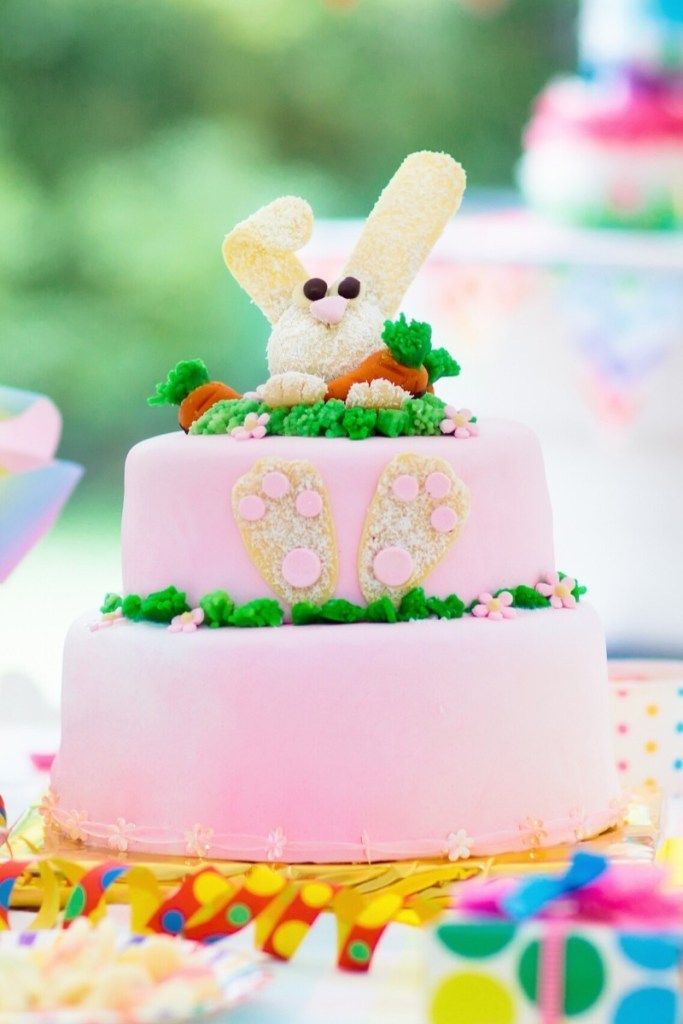 Pink Bunny Birthday Cake