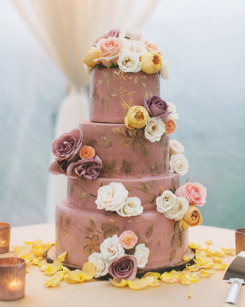 Plum Fondant Pumpkin Wedding Cake from One Sweet Slice