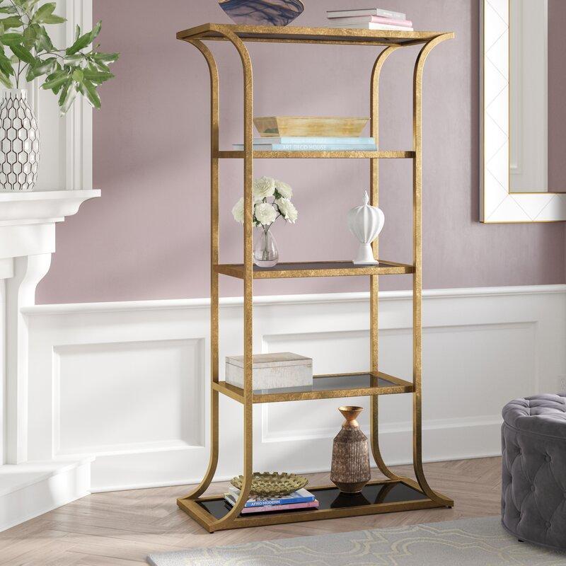 Rinker Gold Etagere Bookcase