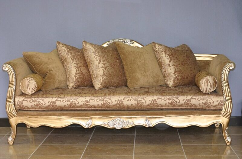 Rother Gold Chesterfield Sofa