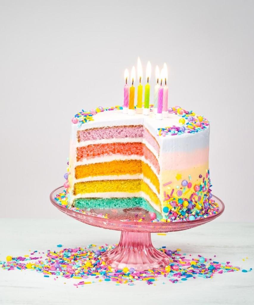 Slice the Rainbow Birthday Cake