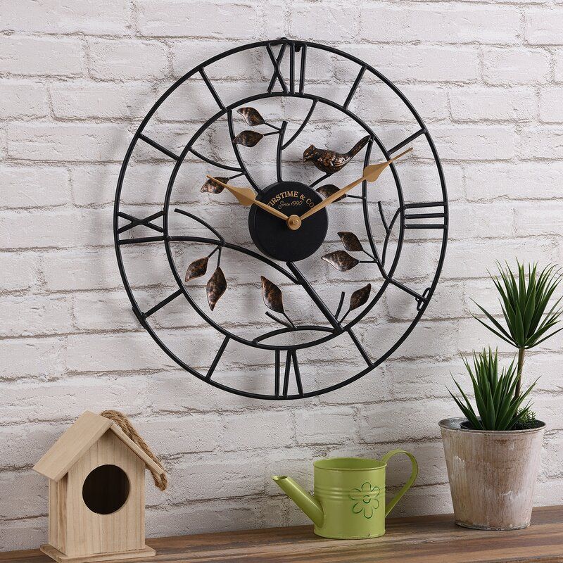 Treetop Bird Outdoor Wall Clock