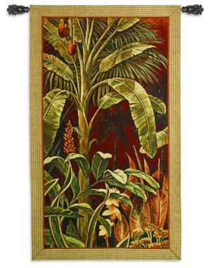 Bali Garden I | Tropical Botanical Tapestry | 60 x 35