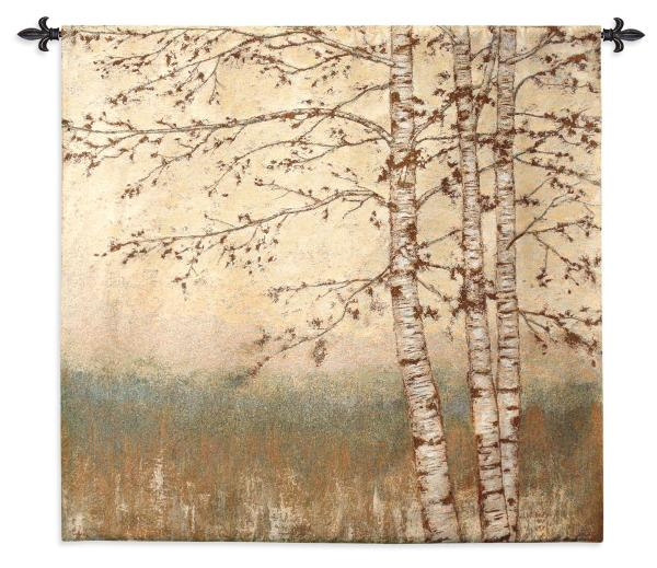 Birch Silhouette I   Wall Tapestry   48 x 52