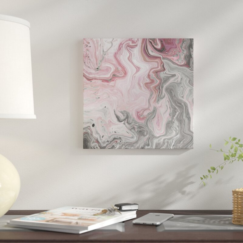 Blush Minerals I Graphic Art Prints on Canvas