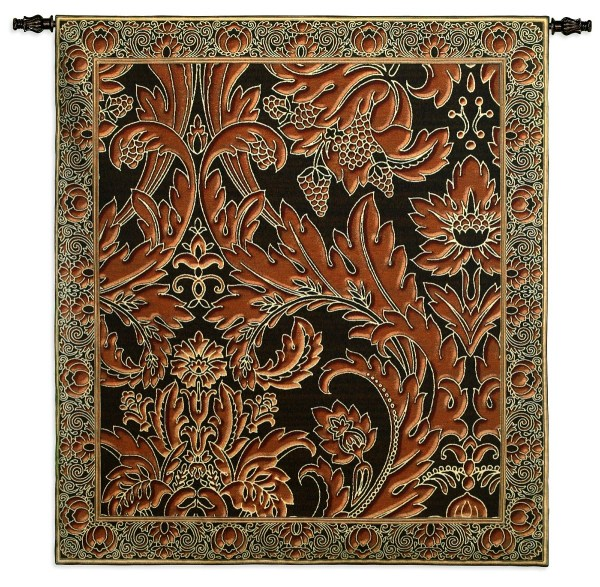 Copper Leaves | Woven Tapestry | 53 x 47