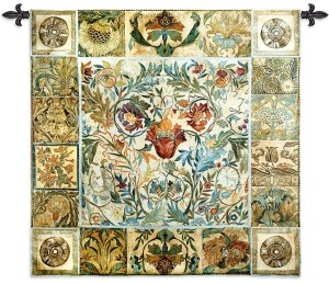 Garden Celebrations   Woven French Country Tapestry   44 x 44