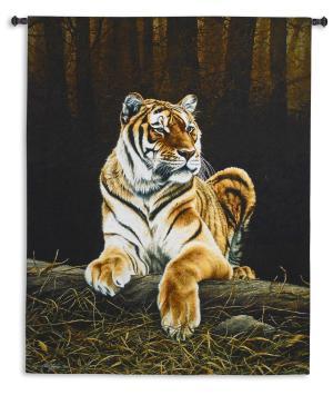 Grandeur   Woven Tiger Tapestry   66 x 52