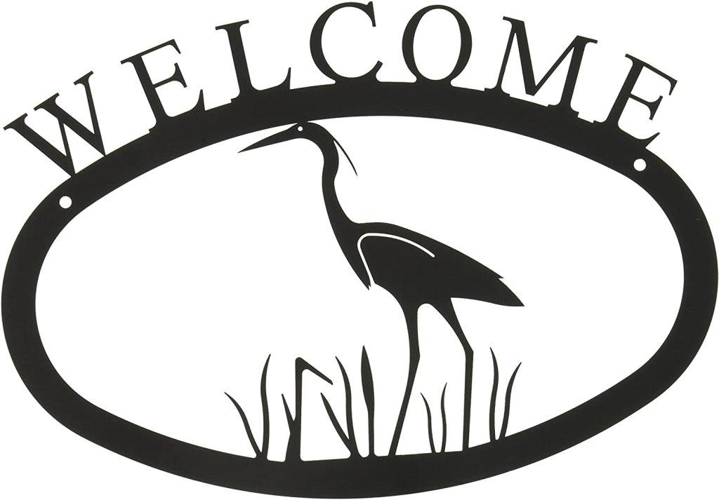 Heron Welcome Sign