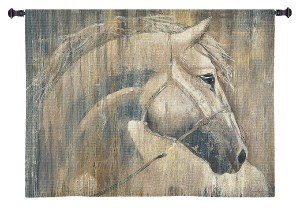 His Majesty (Horse) | Large Country & Rustic Wall Tapestry | 53 x 53