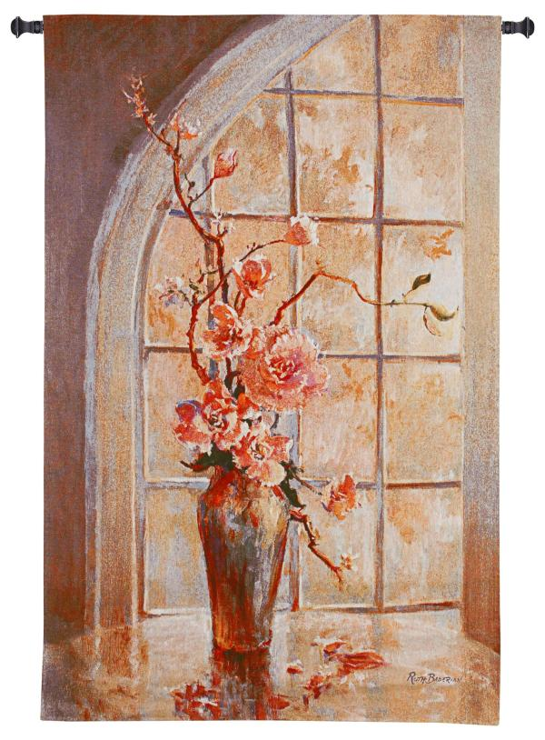 Magnolia Arch I | Woven Floral Tapestry Wall Hanging | 53 x 34