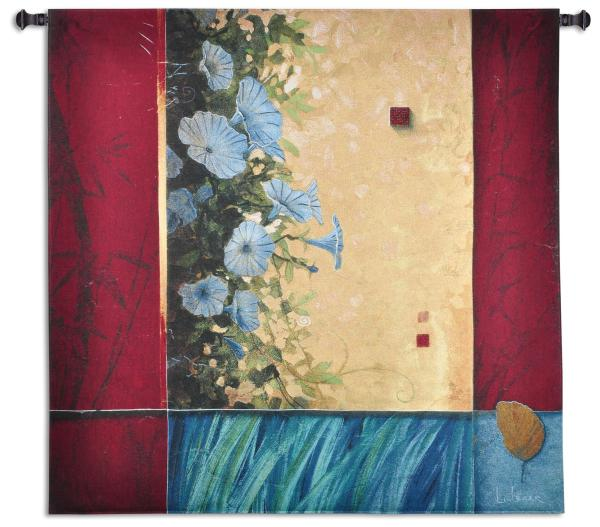 Spring Blooms | Abstract Floral Art Tapestry | 51 x 52