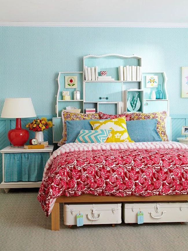 Storage Bookcase Headboard