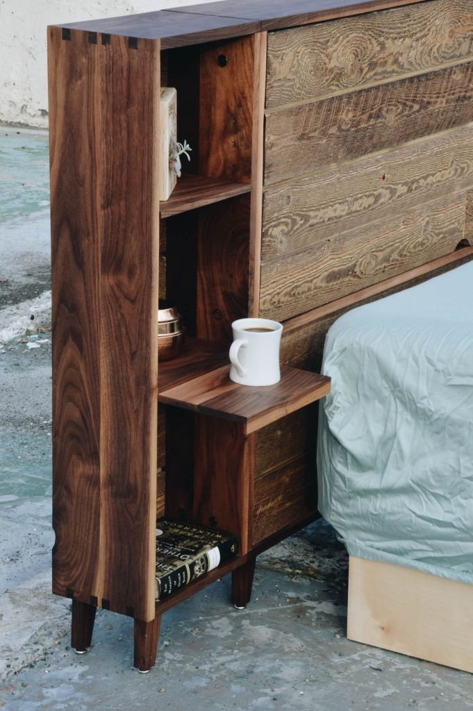 Storage Headboard Shelves