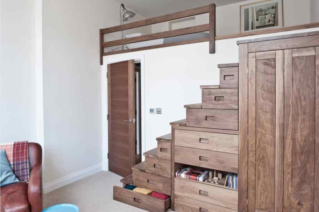 Storage Loft with Storage Stairs