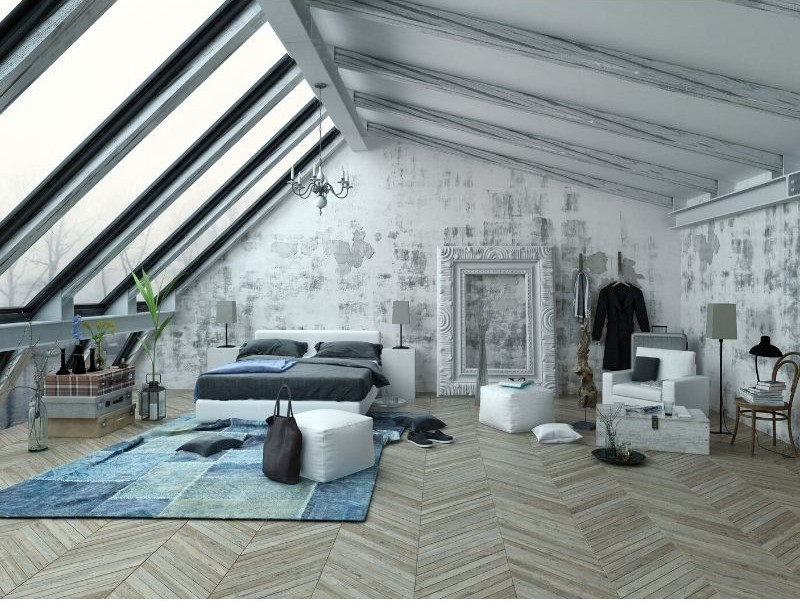 Studio Apartment with Vaulted Ceiling