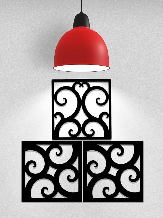 Wrought Iron Art Tiles Configuration Example