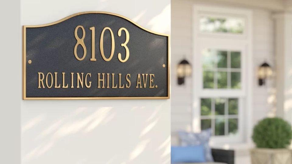 Install a Decorative Address Plaque