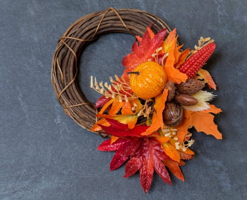 Easy DIY Brilliant Orange Fall Wreath