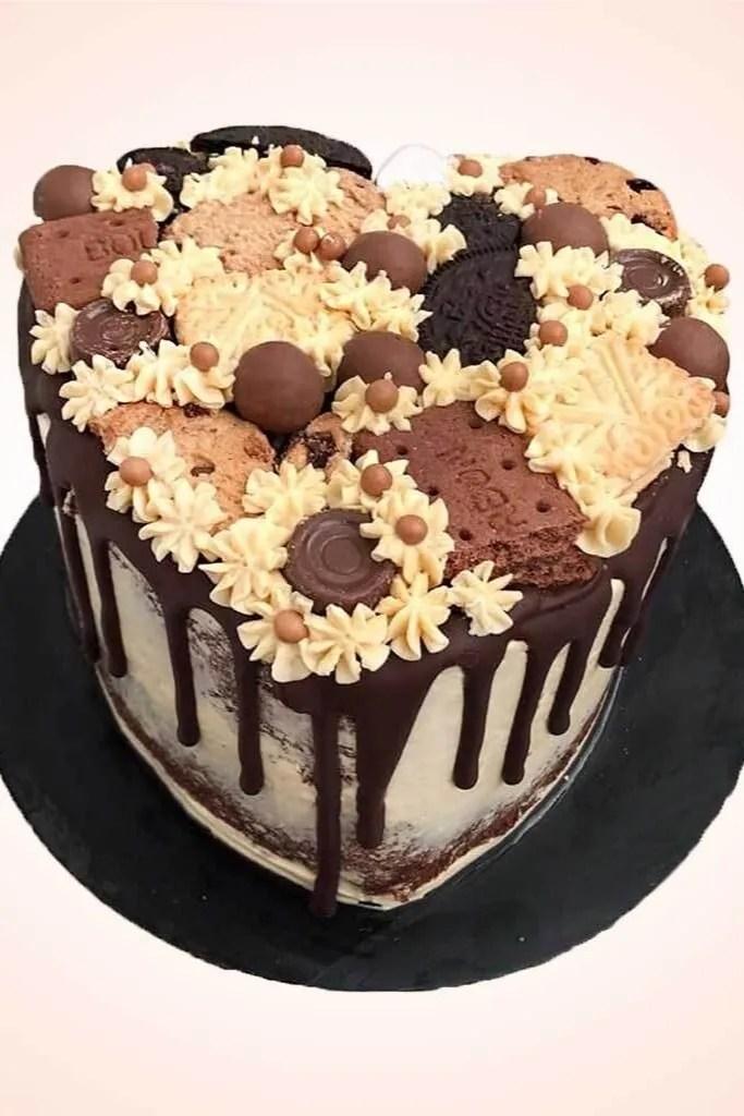 Chocolate Heart Birthday Cake