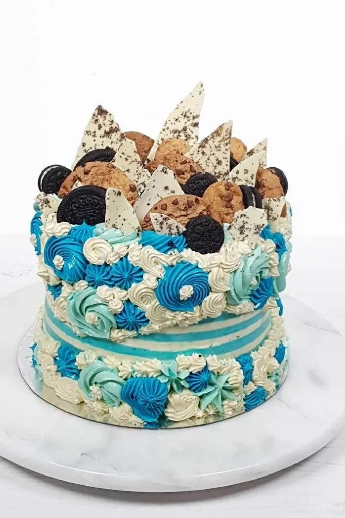 Cookie Monster Fault Line Birthday Cake