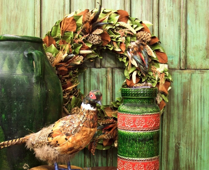 Fall Wreath Ideas - Dried Leaf Fall Wreath