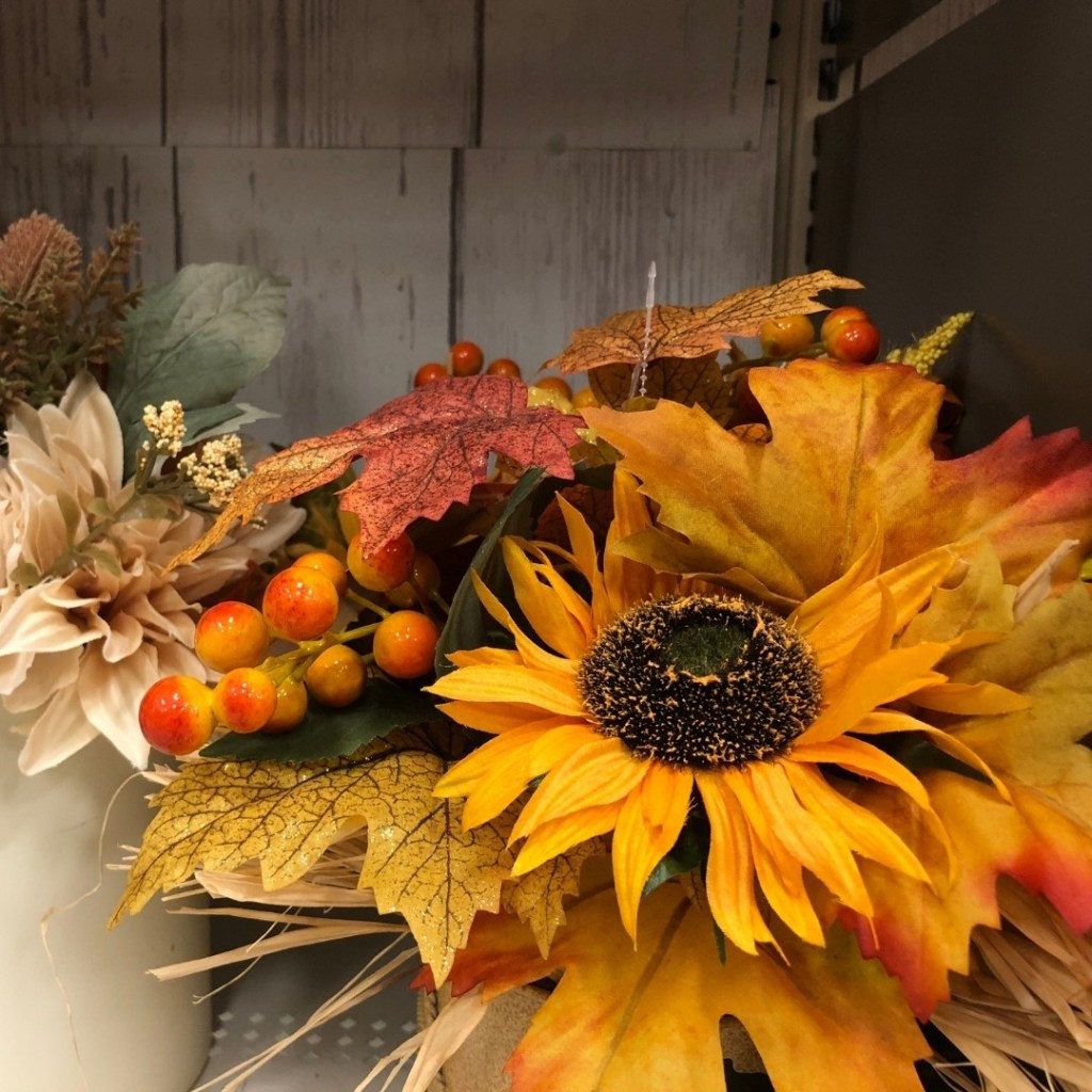 Fall Dried Flower Arrangement