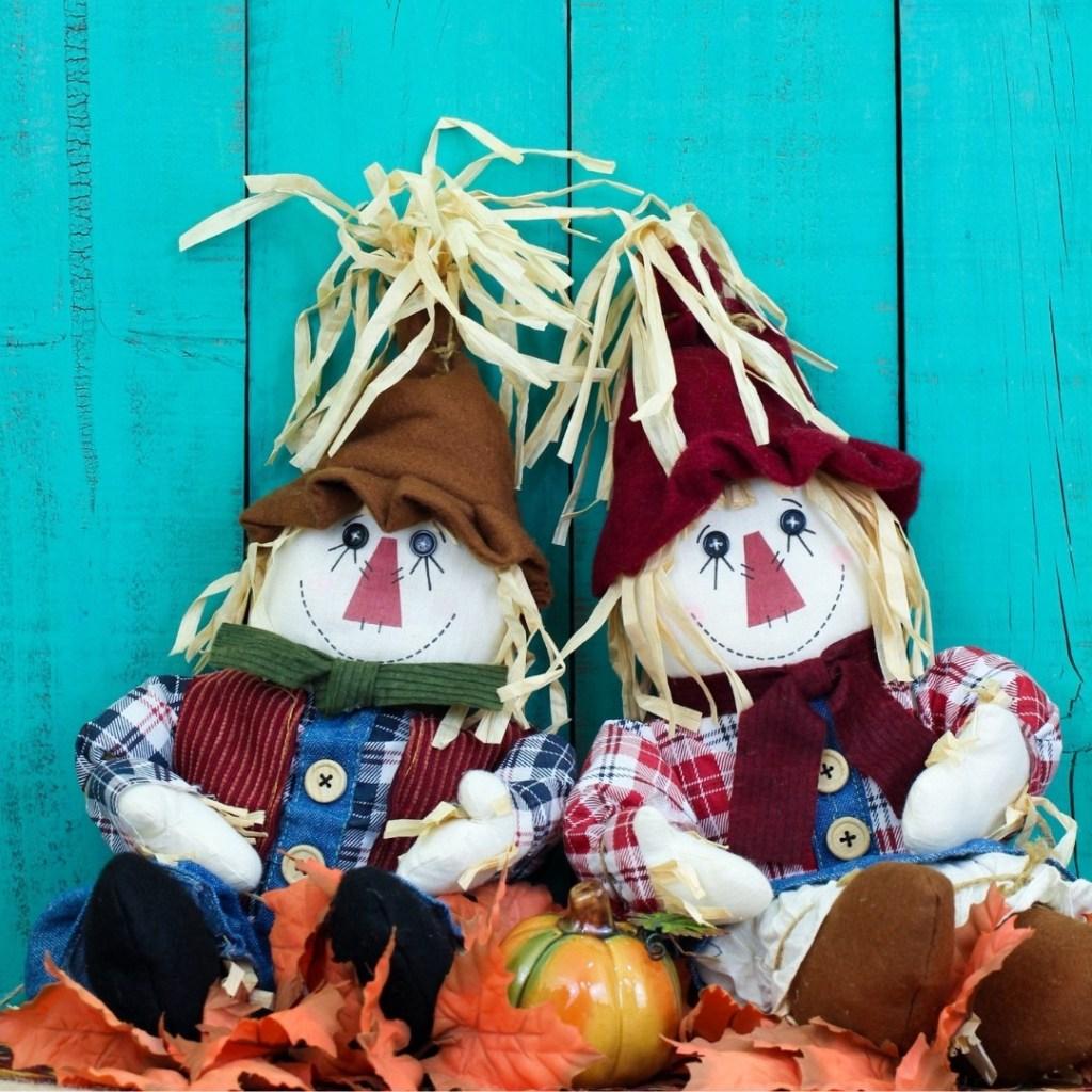 Fall Straw Dolls Display