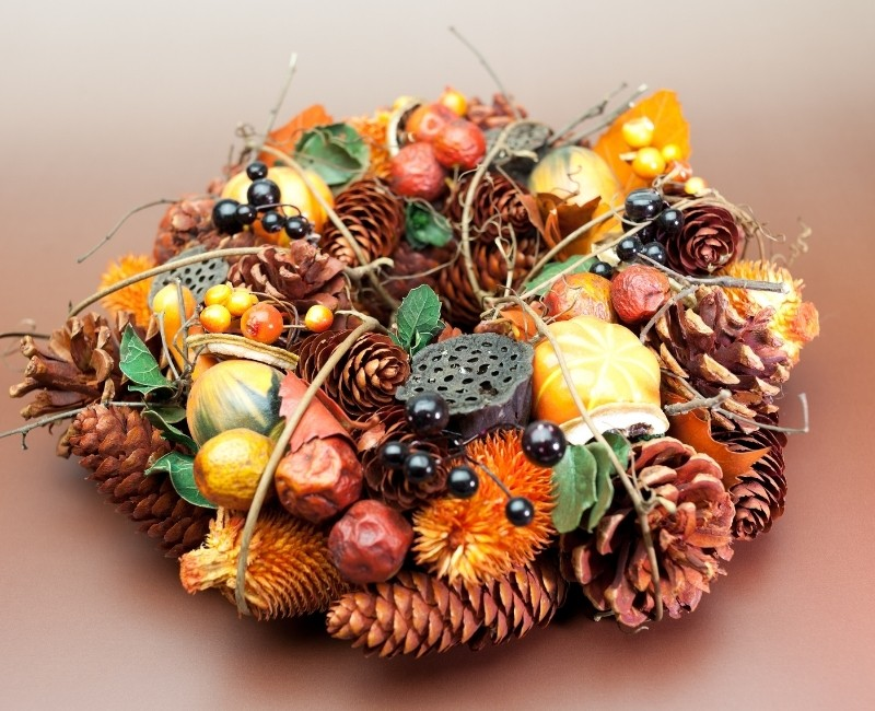 Fall Treasures Wreath