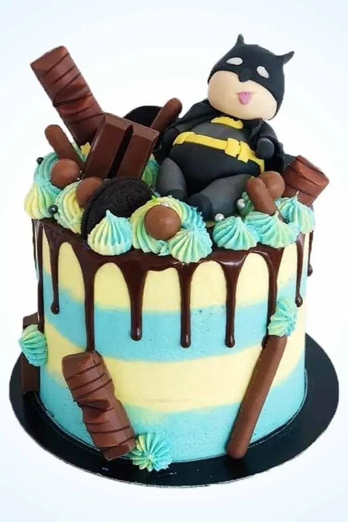 Fat Batman Birthday Cake