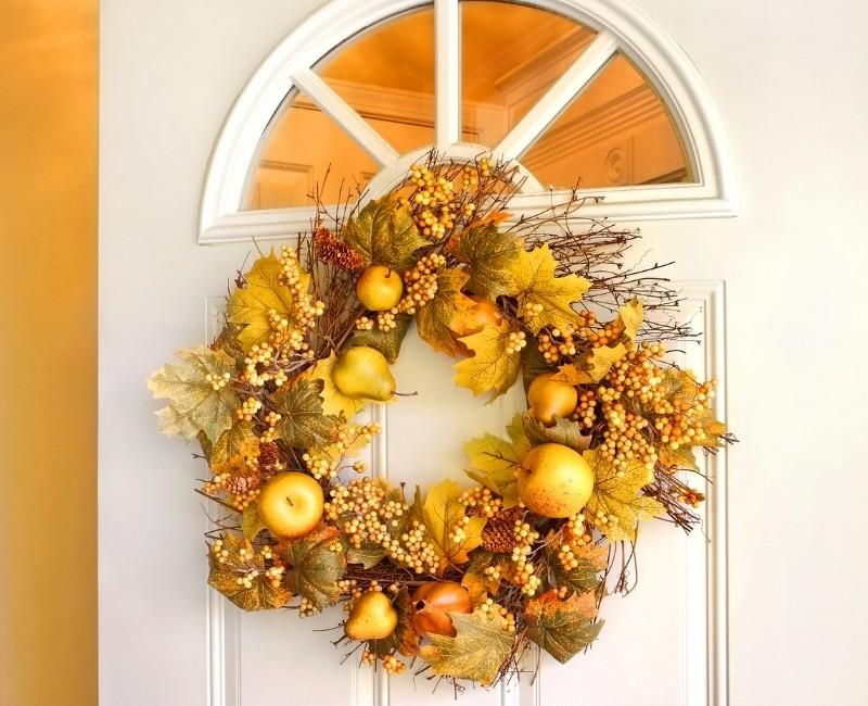 Golden Yellow Fall Wreath