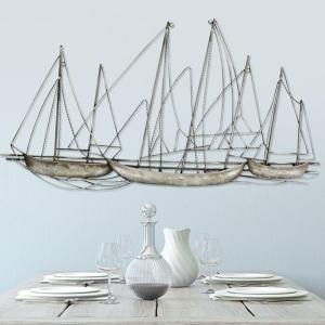 Grand Sailboat Metal Wall Art