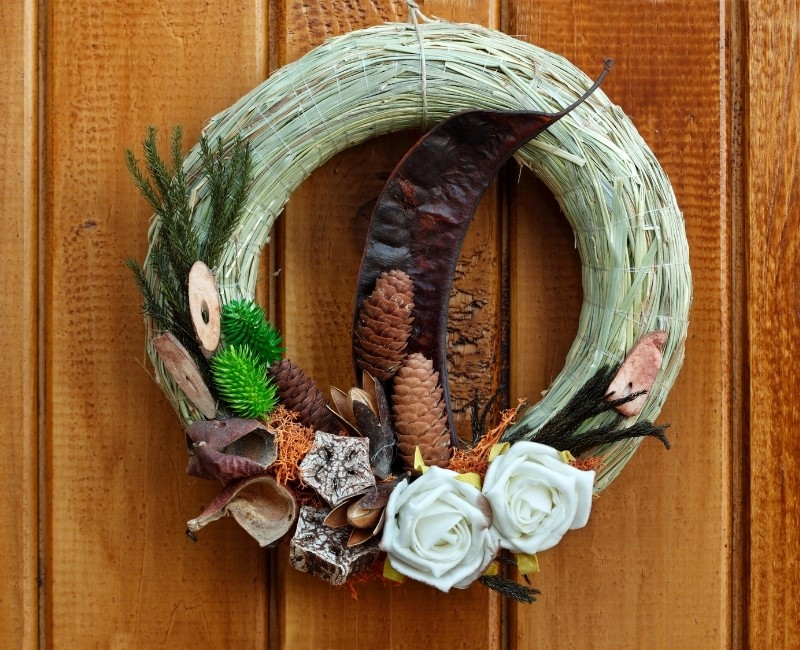 Green Fall Wreath