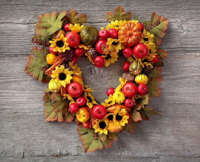Heart Shaped Fall Wreath