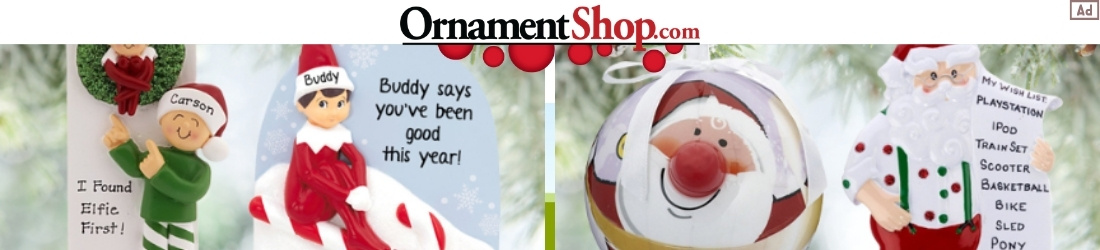 Ornament Shop Christmas Ornaments Ad