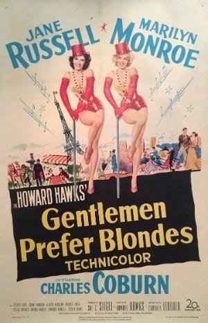 Classic Movie Poster - Gentlemen Prefer Blondes