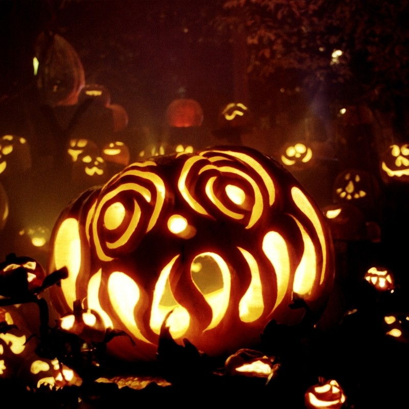 Curls and Swirls Pumpkin