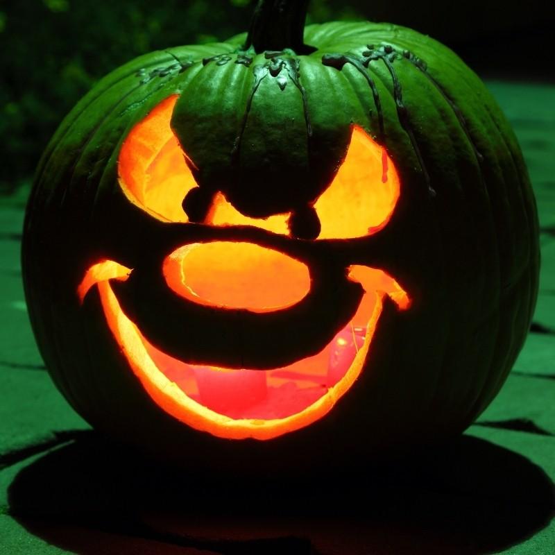 Goofy Green Goblin Pumpkin