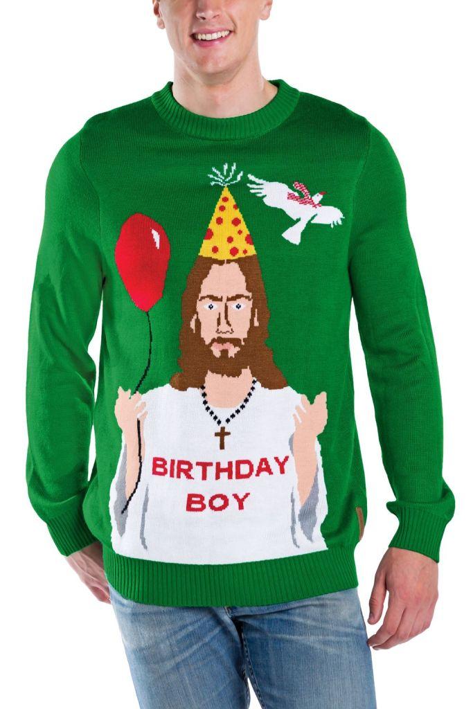 Happy Birthday Jesus Ugly Christmas Sweater