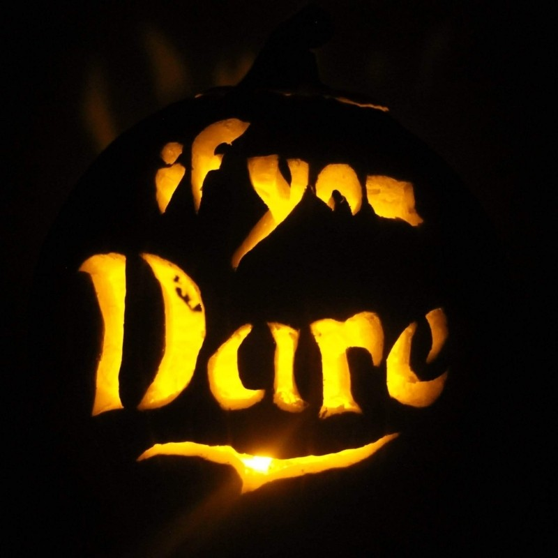 If You Dare Carved Pumpkin