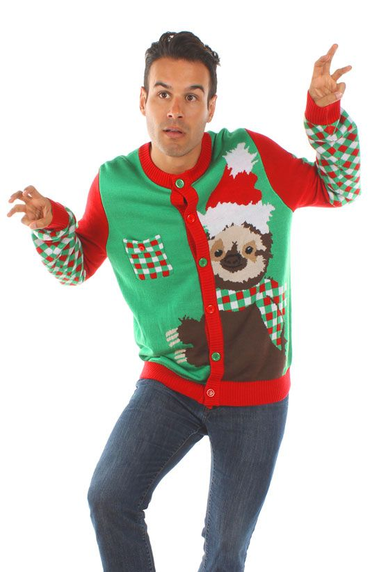Men's Sloth Ugly Christmas Sweater
