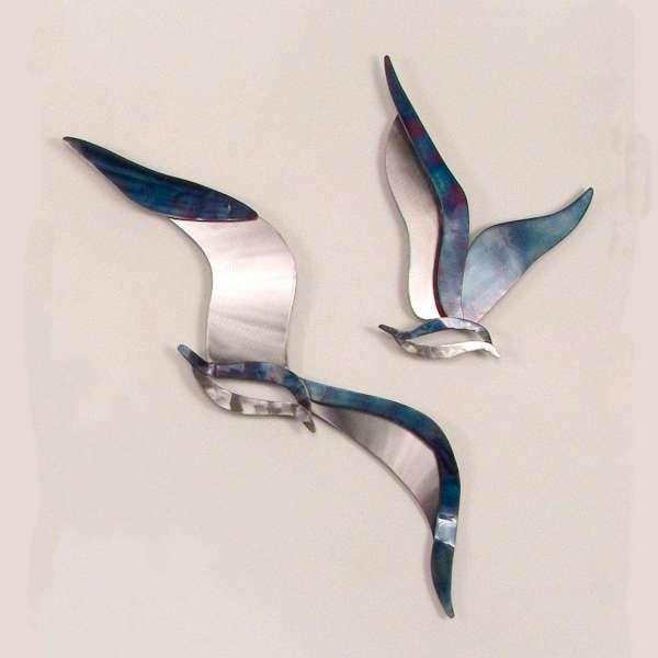 Soaring Seagulls Metal Wall Art Set of 2