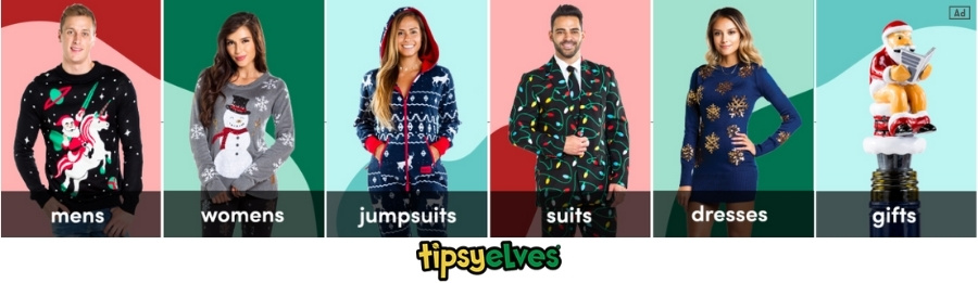 Tipsy Elves Christmas Ad