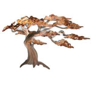 Windswept Pine Tree Metal Wall Art