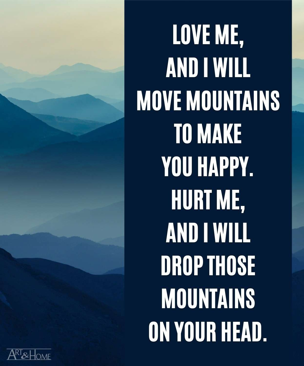 Funny Love Quote About Moving Mountains