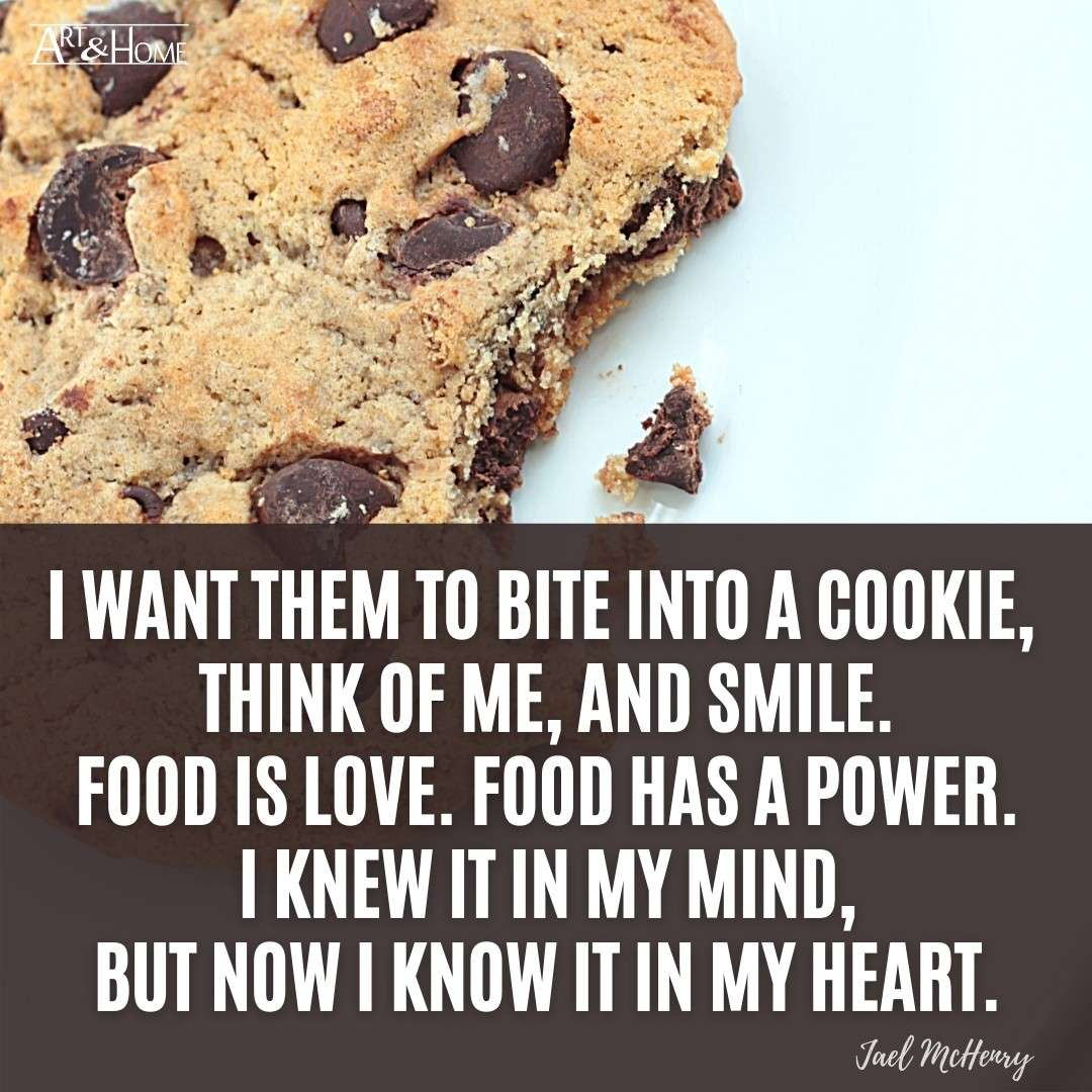 Quote About Baking Cookies | Food is Love Quote