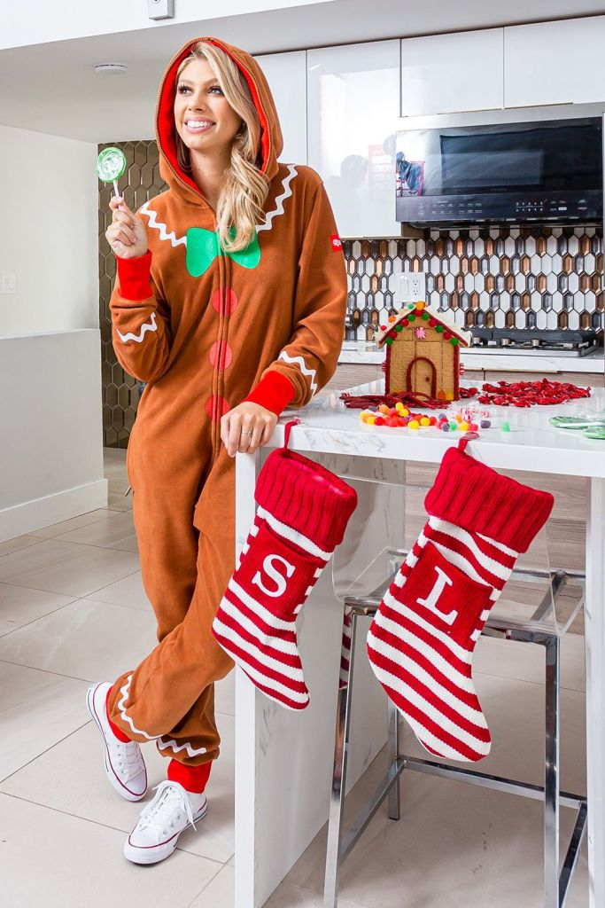 Women's Gingerbread Jumpsuit