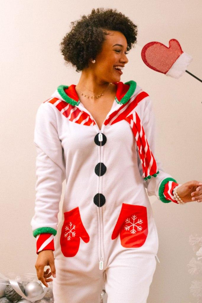 Women's Snowman Christmas Onesie