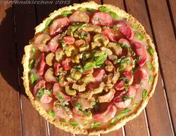Gingered Rhubarb Tart with Mint 2