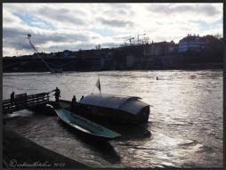 Basel Walking Tour January 2015 _ Mittlere Brücke Boat Fähre